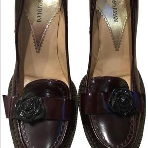 Emporio Armani Xeda New Burgundy Heels